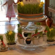 wheatgrass centerpiece