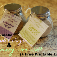 Lavender Sugar & Rosemary Sea Salt :: and a Free Printable
