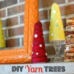 DIY yarn trees