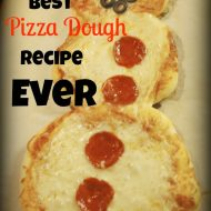 The Best Pizza Dough Ever, and a Snowman Pizza Pie