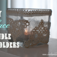 DIY Lace Doily Candle Holders