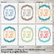 The Dishes Will Wait :: FREE PRINTABLE
