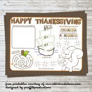 Thanksgiving Placemats Free Printable For The Kids