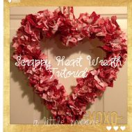 Scrappy Heart Wreath Tutorial