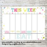 Colorful Weekly Calendar :: Free Printable