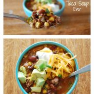 The Best Slow Cooker Taco Soup Ever
