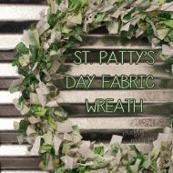 St. Patrick's Day Fabric Wreath