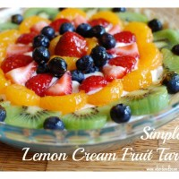 Lemon Cream Fruit Tart 1