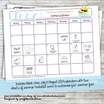 Customizable 'Summer Bucket List' Calendar