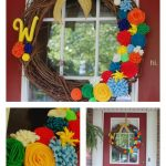 DIY Summer Wreath with Felt Flowers Four Ways