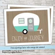 'Enjoy the Journey' Retro Camper :: Free Printable