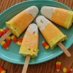 Candy Corn Pudding Pops