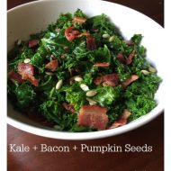 Kale + Bacon + Pumpkin Seeds