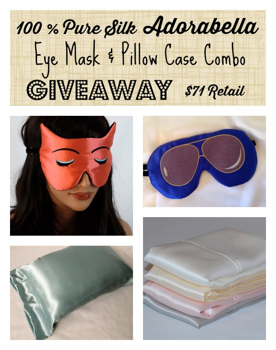 Enter the Eye Mask & Pillow Case Combo Giveaway. Ends 11/1.