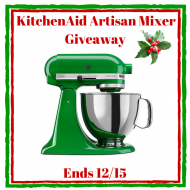 Holiday KitchenAid Artisan Mixer Giveaway