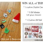 A Contributor Christmas :: Elf on the Shelf and Custom Card Giveaway