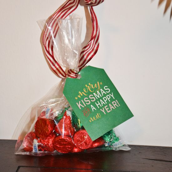 Printable Christmas Tags for Treat Bags are a great way to dress up a simple candy gift!  Print these to create this super cute & cheap gift idea in minutes!