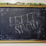 Easy DIY Winter Framed Chalkboard