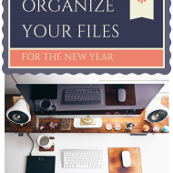 Organize Your Files for the New Year