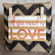 Burlap Wall Decor