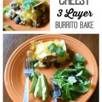 Cheesy 3 Layer Burrito Bake