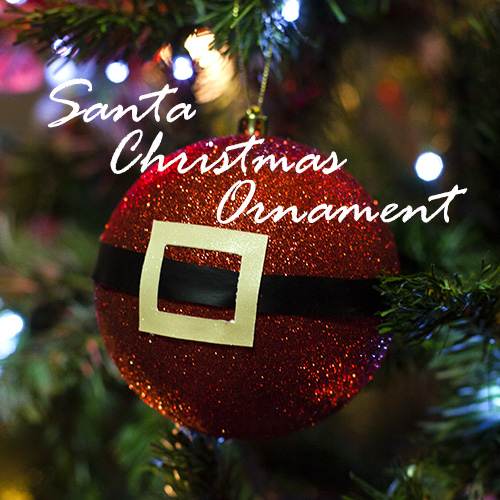 Santa Homemade Christmas Ornaments are a great easy to make idea for doing with your kids this year!  Make these as gifts or to decorate your own tree!