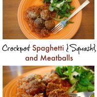 Crockpot Spaghetti {Squash} and Meatballs