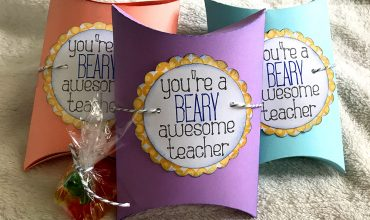 Pillow Box Teacher Gift with Embellishment