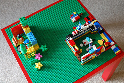 Diy lego table a bird and a bean for Ikea lack lego table