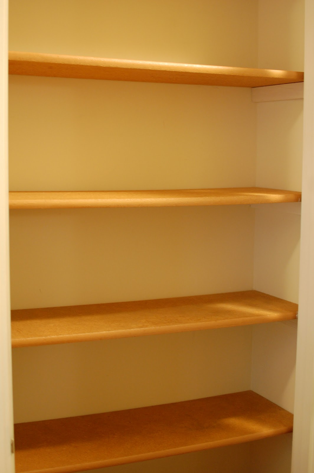 oh there are the shelves - Linen Closet