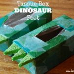 tissue box dinosaur feet
