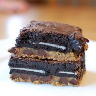 chocolate chip cookie oreo brownie fudge bar