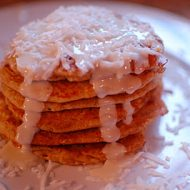 whole wheat coconut pancakes