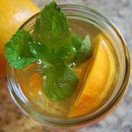 iced orange mint green tea