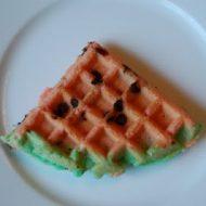 watermelon waffles