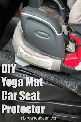 DIY Yoga Mat Car Seat Protector - A Bird and a Bean