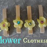flower clothespins