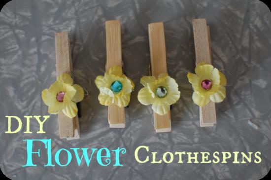 flowerclothespins