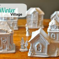 DIY winter village