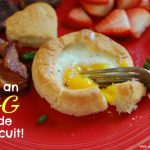 Baked Egg …..in a Biscuit