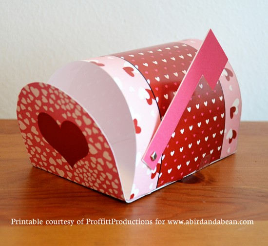 free printable valentine s mailboxes