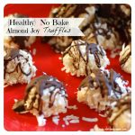 {Healthy} No Bake Coconut Almond Joy Truffles