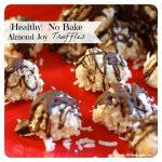 {Healthy} No Bake Coconut Almond Joy Truffles