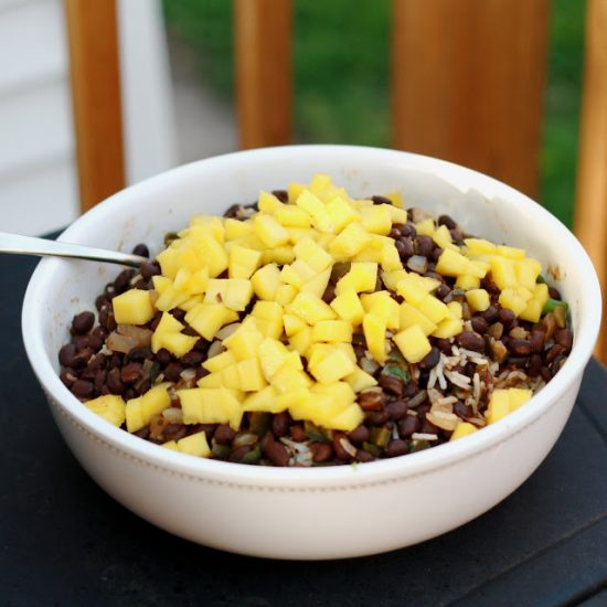 black beans and coconut lime rice