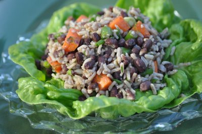 dilled adzuki bean and rice salad
