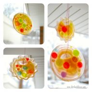 Stained 'Glass' Frozen Sun Catchers