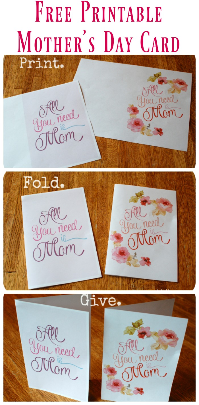 Free Printable Mother's Day Card is such an easy and wonderful way to celebrate your mom!
