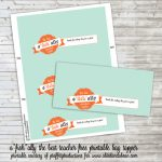 Free Printable :: Teacher Appreciation