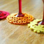 DIY Slip-on Felt Coasters