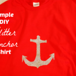 DIY Glitter Anchor Shirt